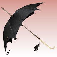 Miniature black silk umbrella