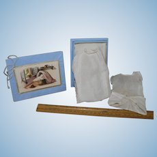 Miniature Baby layette in baby gift box,