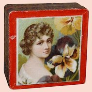 Antique box and swans down puff for your French Fashion