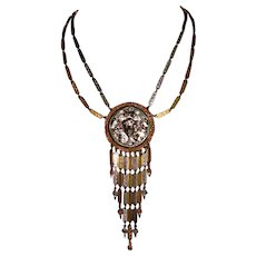 Goldette Gold-Tone and Silver-Tone Pendant Necklace