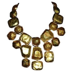 Kenneth J Lane Cascading Bib Necklace