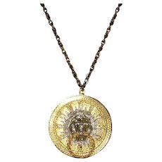 Kenneth Lane Lion Head Necklace