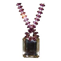Iradj Moini 50 Karate Citrine and Amethyst Necklace