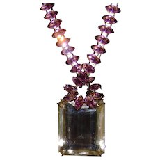 Iradj Moini 30 Karate Citrine and Amethyst Necklace