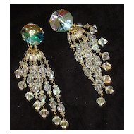 Crystal Shoulder Duster Earrings