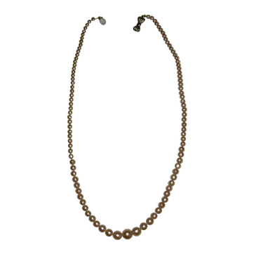Pink Simulated Single Strand Pearl Necklace