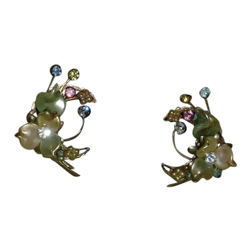 Floral Clip-On Earrings