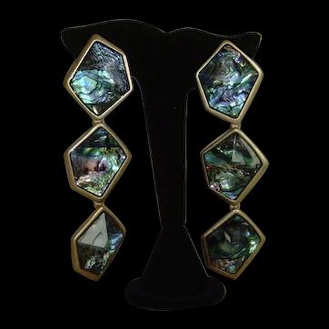 Robert Lee Morris Abalone Shell Dangle Earrings