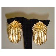 Goldtone 1950's Clip Earrings