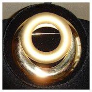 Huge Gold-Tone Dual-Finish Brooch