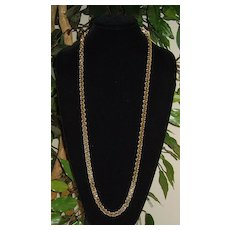 Gold-Tone Inter-Locking Chain Necklace