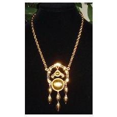 Lisner Gold-Tone Large Pendant Necklace