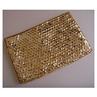 Gold-Tone Sequined Evening Bag