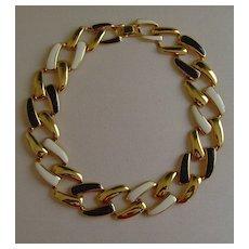 Multi-Tone Curb Link Designed Necklace