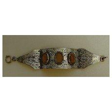Antique Gold-Tone Tri-Fold Bracelet