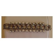 Gunmetal and Rhinestone Bracelet