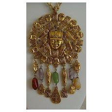 Goldetteⓒ Egyptian Revival Pendant Necklace