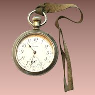 Antique PS Bartlette Railroad Vanguard Silveroid 1892 Open Face Swingout 17 Jewel Pocket Watch sz18