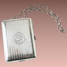 Watson Art Deco Sterling Silver Ladies Necessaire Purse Compact Evening Clutch