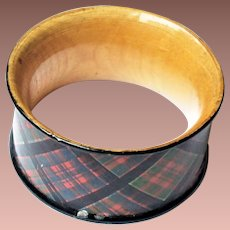 Scottish Victorian Tartan Ware Napkin Ring Clanranald Clan Ranald c1900