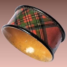 Scottish Victorian Tartan Ware Napkin Ring Stuart Clan c1900