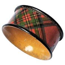 Scottish Victorian Tartan Ware Napkin Ring Stuart Clan c1900