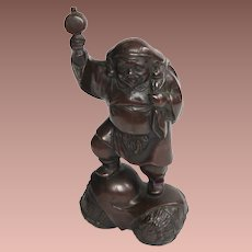 Vintage Japan Japanese Bronze Figure Daikoku Seven Lucky God