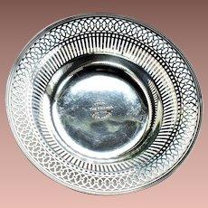 Antique Canadian Birks JE Ellis Toronto Reticulated Sterling Silver Serving Bowl 1913