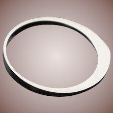 Mid Century Scandinavian Modern Sterling Silver Denmark Stacking Bangle Bracelet
