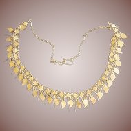 Vintage Kurdistan Kurdish 14 -15k Gold Tribal Gardanas Dangle Necklace