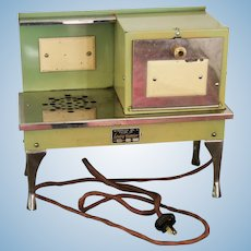 Art Deco Miniature Dollhouse Toy Enamel Metropolitan Mfg Co Electric Stove