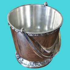 Vintage Art Deco Gorham Silver Co United States US Lines Manhattan Fan Silver Plate Ice Bucket