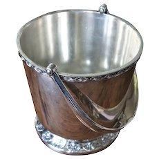 Vintage Art Deco Gorham Silver Co United States US Lines Manhattan Fan Silver Plate Ice Bucket