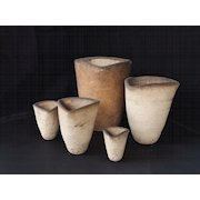 Brick  Pottery Clay Pots- Artist signed