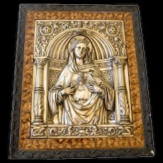 Blessed Mary Framed Icon -Spain,1920's