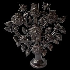 Tree of Life Pottery Candelabra