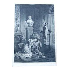 Photogravure, Napoleon's Farewell to Josephine, Signed, Pott
