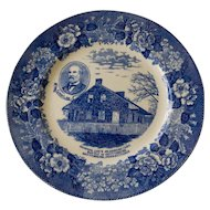Staffordshire Commemorative Plate- General Lee at Gettysburg