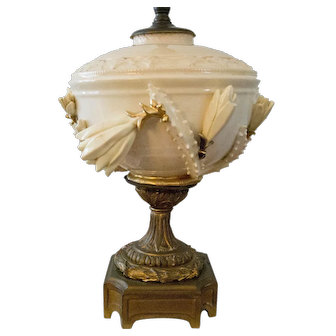 Early Century French Paste Table Lamp