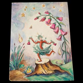 Original Signed Lily Shierenberg Converse Fairy Art