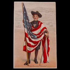 Patriotic Our Country First Postcard, Early Century