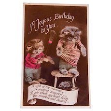 Real Photo Kittens and Birthday Postcard