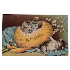 Easter Postcard with Kittens