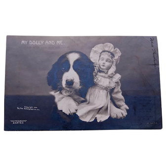 Postcard Rotograph- My Dolly and Me, 1906