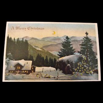 Vintage HTL Christmas Postcard