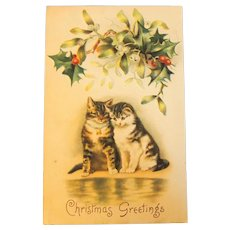 Christmas Cats Postcard