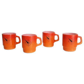 Vintage Nautical Fire King Mugs