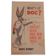 Vintage Warner Brothers Bugs Bunny Postcard