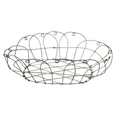 Vintage 19th Century French Wire Bread Basket