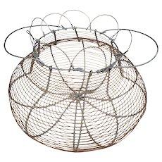 Vintage French Wired Egg Basket